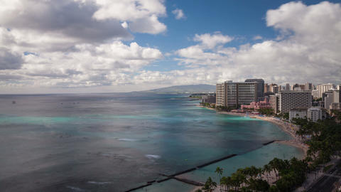 Beach Honolulu Hawaii Time Lapse Footage