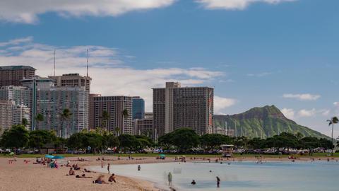 Waikiki Hawaii Beach Time Lapse Footage