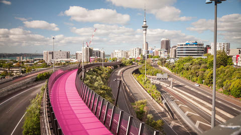 Auckland New Zealand Freeway Time Lapse Footage