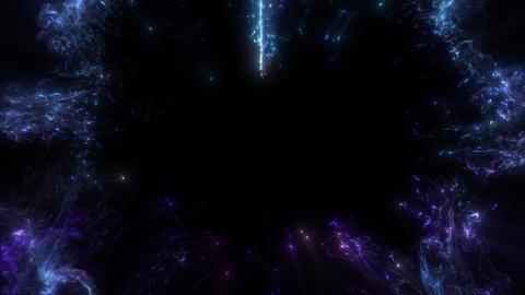 Blue color glowing shockwave heart shape Valentine's Day burst copy space 60 fps Animation