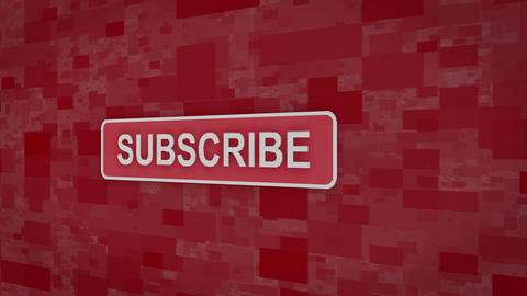 Subscribe button pixel computer screen animation Animation