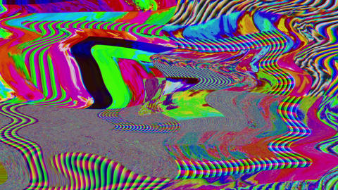 Mixed-colored psychedelic futuristic futuristic holographic background Live Action