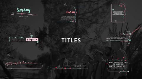 Wedding Titles & Lower Thirds Motion Graphics Template