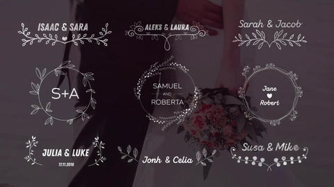 Wedding Titles Big Pack Motion Graphics Template