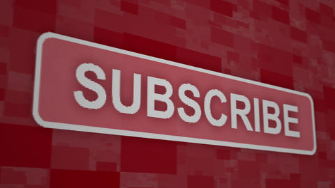 Subscribe button pixel computer screen animation close up Animation