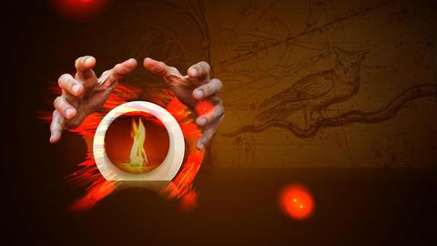 293 3d animated zodiac horoscope with magic ball Animation