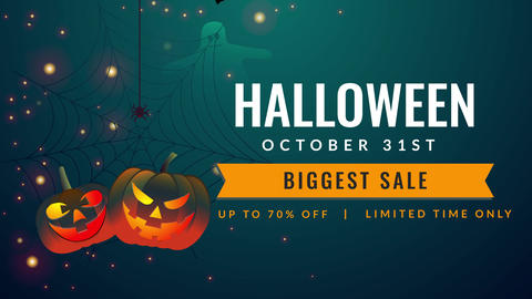 Halloween Title Motion Graphics Template