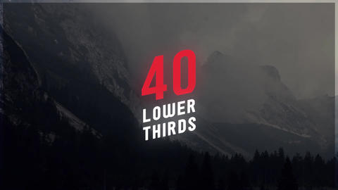 40 Lower Thirds After Effects Template