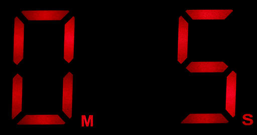 Countdown Clock Real 5 Seconds Live Action