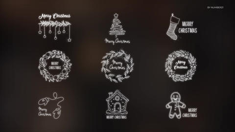 Christmas & New Year Titles Motion Graphics Template
