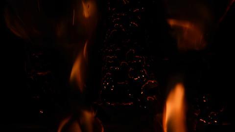 Flames burn across the screen Alpha matte transparent 01 Live Action