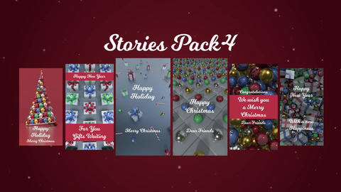 Stories Pack 4: Christmas Plantillas de Motion Graphics