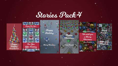 Stories Pack 4: Christmas After Effects Template