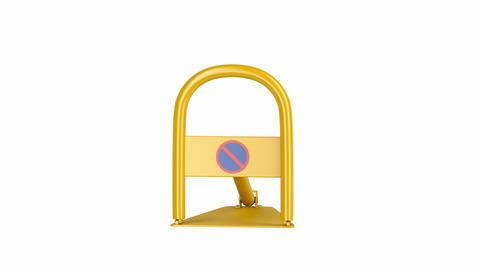Yellow parking lock Animation