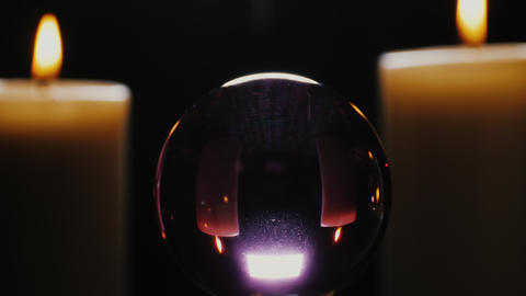 Crystal ball with candles Live Action
