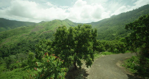 top view sky road on top of mountain, Amazing nature, huge landscape, green forest Live影片