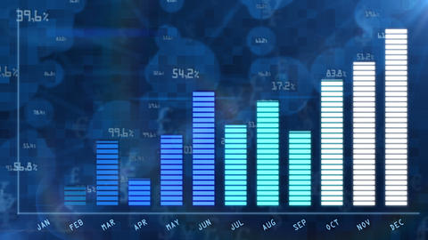 Blue business growing chart for annual report Animation