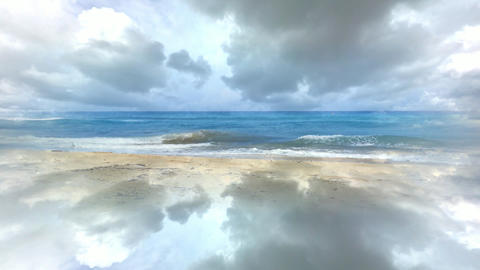 307 3d animated fantastic landscape with sea and sky Animation