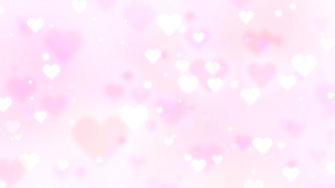 Slowly Moving Hearts Light Pink Animation