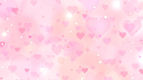Slowly Moving Hearts Pink Orange Animation