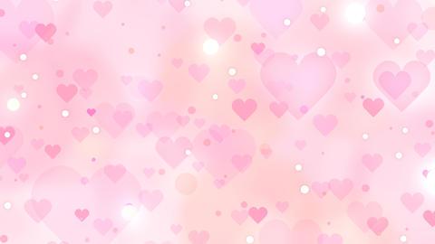 Slowly Moving Hearts Pink Orange Videos animados