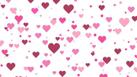 Slowly Moving Hearts Flat Animation