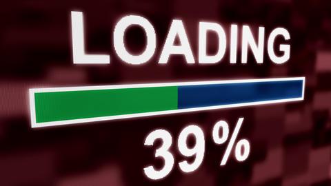 Loading progress bar countdown computer screen animation closeup Animation