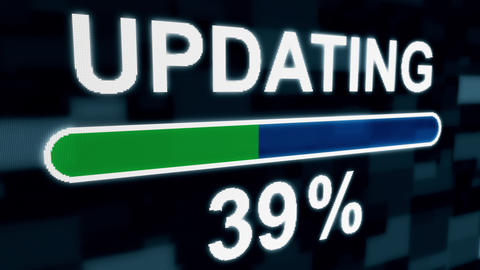 Updating progress bar countdown computer screen animation Animation