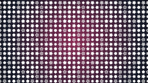Rotating white circles interface elements animated background Animation