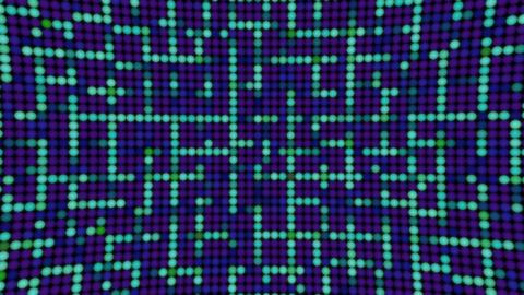 Shining blue lines bulbs balls led panel animated background Animation