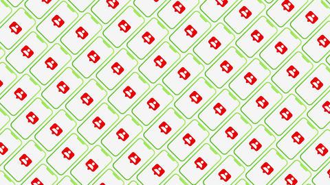 Smartphones pattern followers animated background Animation
