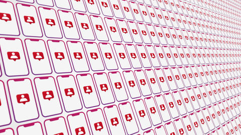Smartphones pattern followers animated background close up Animation