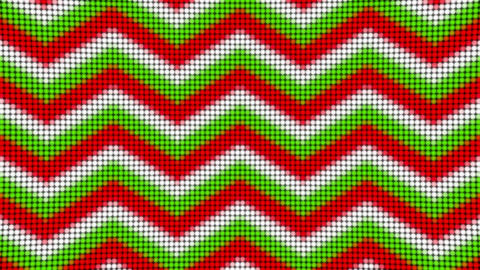Zigzag red green white lines arrows led panel animated background Animation