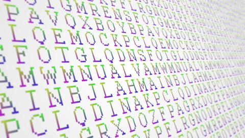Letters of the alphabet rgb gradient pattern close up animated background Animation