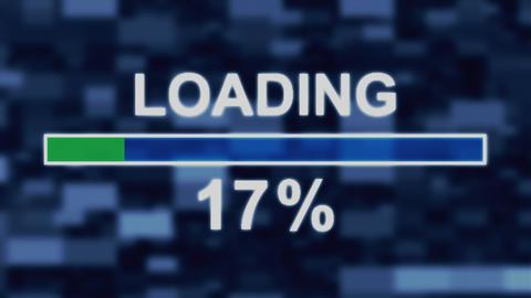 Loading progress bar countdown computer screen animation Animation