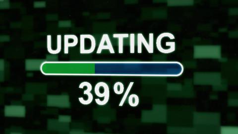 Updating progress bar countdown computer screen animation Animation
