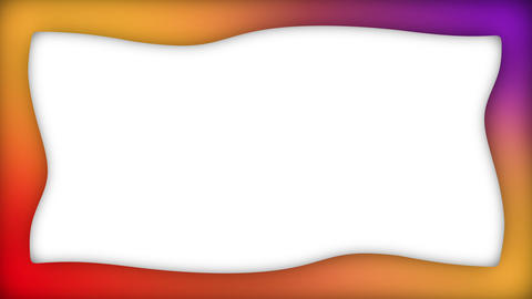 Gradient colorful liquid rectangle frame animation Animation