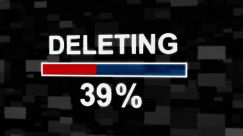 Deleting progress bar countdown computer screen animation Animation