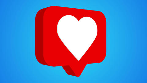 Like heart rotating icon 3d animation rotation Animation