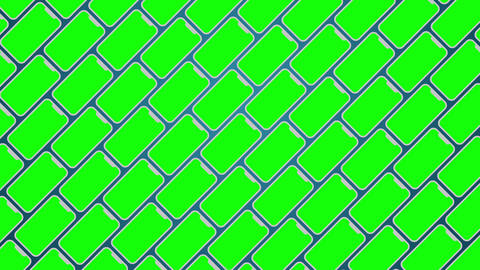 Smartphones diagonal pattern greenscreen animated background Animation