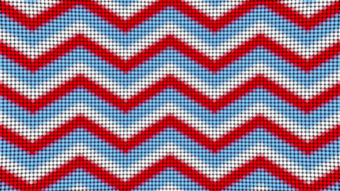 Zigzag red blue white lines arrows led panel animated background Animation