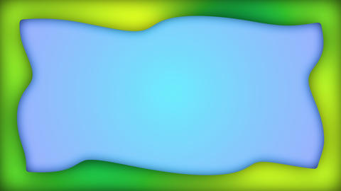 Gradient green blue liquid rectangle frame animation Animation
