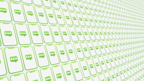 Smartphones pattern messages animated backgroundclose up Animation