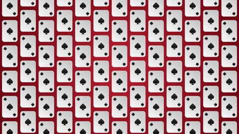 Playing card suits spades pattern animated background Animation