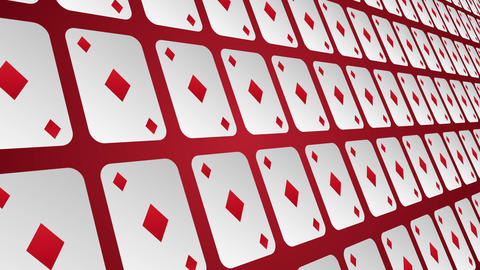 Playing card suits diamonds pattern close up animated background Animation