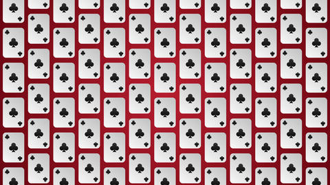 Playing card suits clubs pattern animated background Animation