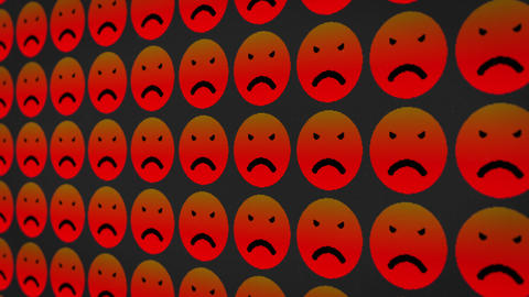 Angry sad smile icons pixel moving screen animated background Animation