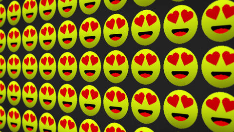 Lovely happy smile icons pixel moving screen animated background Animation