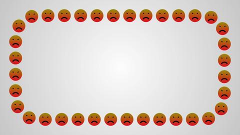 Angry sad smile icons frame Animation