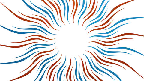 Rays and wavy shapes red blue animated background Animation